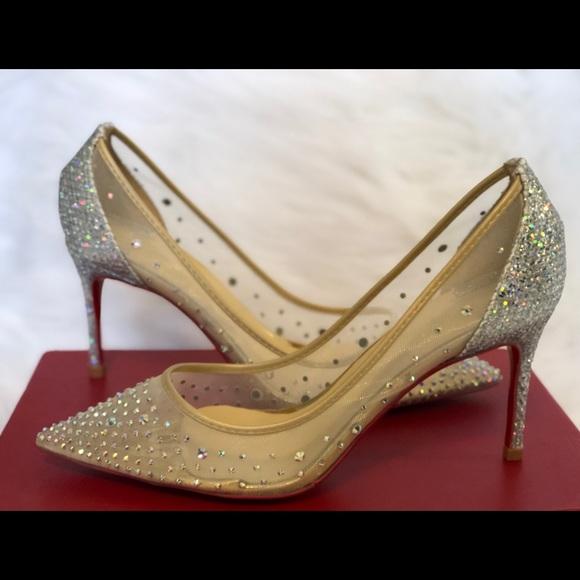 65376844441e Doris Fanny Shoes - Louboutin Reminiscent Crystal Mesh Pump 6.5
